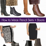 How to Pair Pencil Skirts with Boots