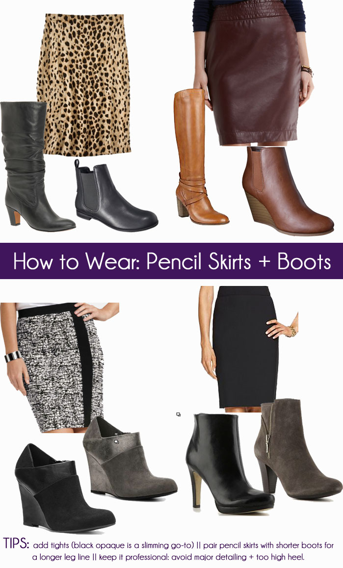 How to Pair a Pencil Skirt with Boots by popular Florida fashion blogger, The Modern Savvy