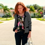 Outfit: Florals and Stripes