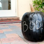 Chalkboard Painted Pumpkin