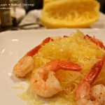 Spaghetti Squash with Baked Shrimp