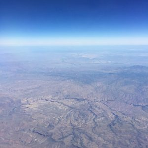 breathtaking, cloud-less view over Arizona en route to Cali... #skyhigh#nofilter#viewfromabove