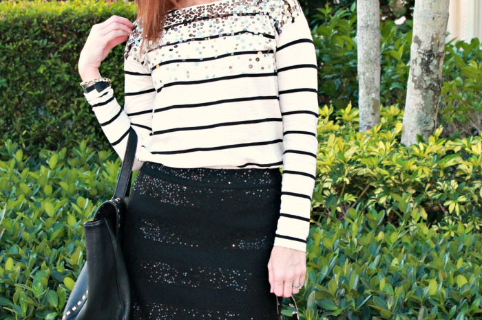 Stripes and Sequins for Work || THe Average Girl's GUide