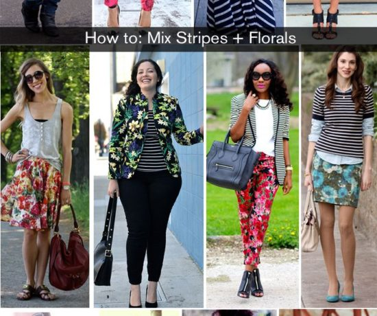 floral and stripes, pattern mix, outfit ideas