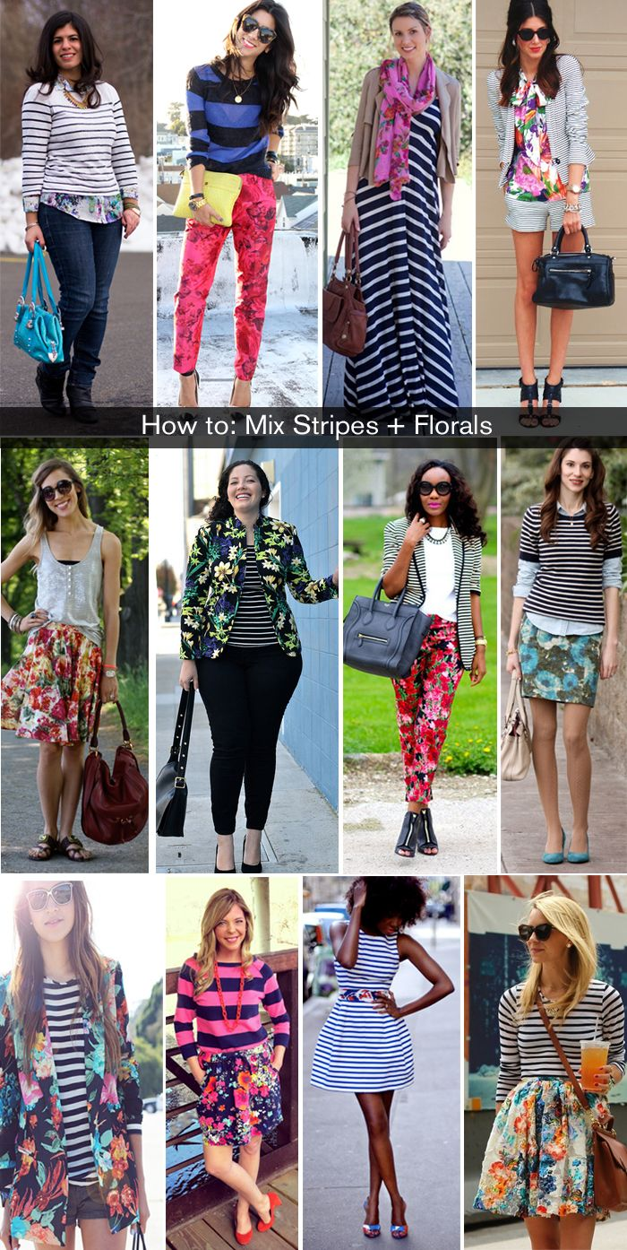 How to: Wear Florals and Stripes