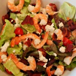 Shrimp, Turkey Bacon + Goat Cheese Salad