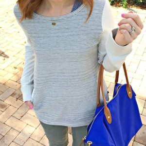 now on TAGG... my weekend uniform #taggstyle#landsend#talbots#cozy#blue