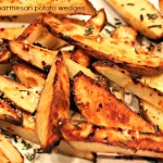 rosemary + parmesan roasted potato wedges