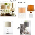 ogle or own: table lamps for less