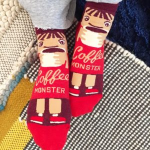 coffee monster! ☕️ #socksfanatic#blueqsocks