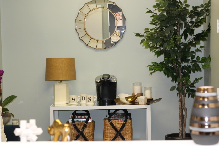 office coffee station, designed by nate berkus