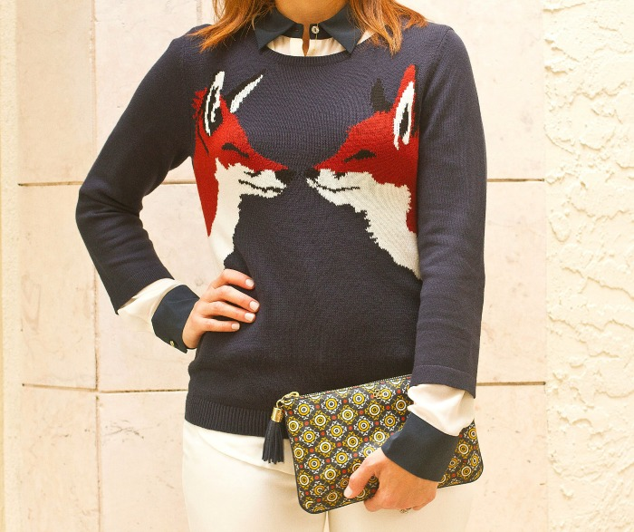 fox sweater \ the average girl's guide