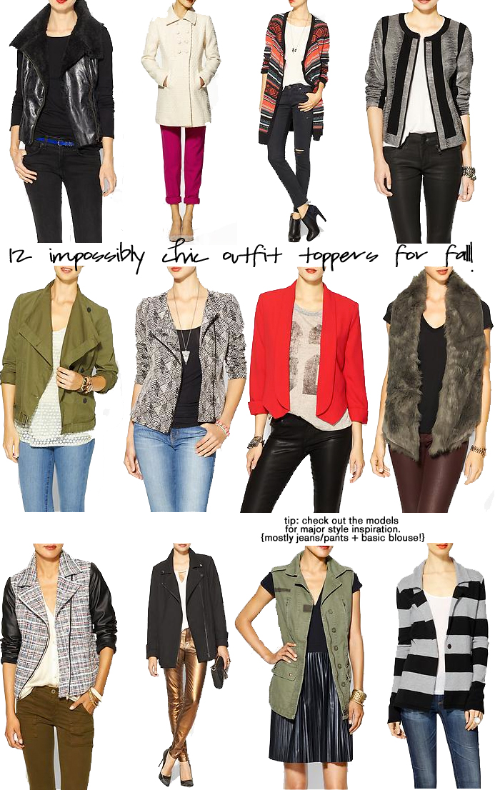 Blazers, Vests + Jackets for Fall 2013
