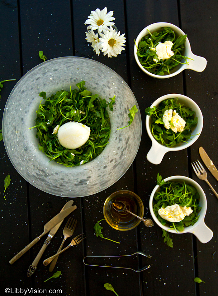 arugula and burrata salad