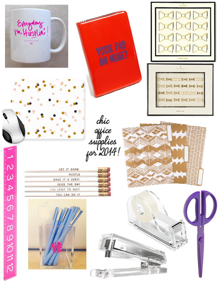 Chic Office Supplies for 2014