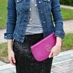 outfit: sequins + denim