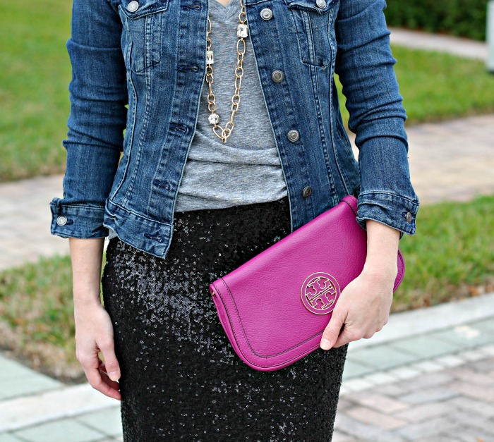 denim + sequins // the average girl's guide
