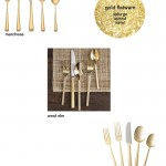 save or splurge: gold flatware