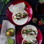 strawberry avocado tacos