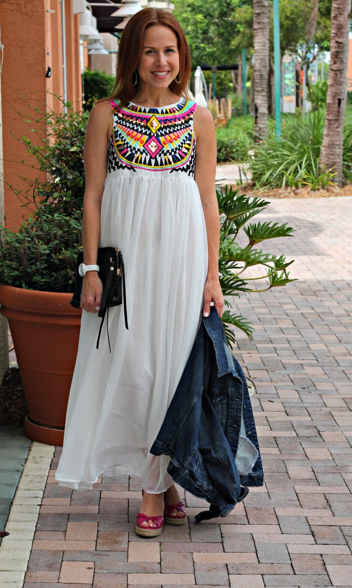 embroidered white dress // the average girl's guide