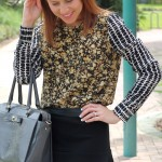outfit: floral and flouncy