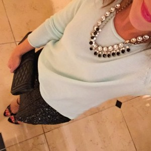 sweater + sequin for my first opera! #pboenemies#taggstyle#oldnavystyle#bling#saturday#opera#ilovewpb#datenight