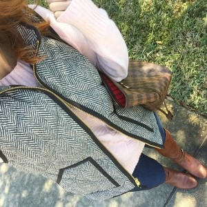 sweater, vest + boots for this florida girl! happy Friday,…