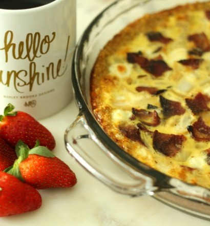 Bacon, Onion & Goat Cheese Quiche with Quinoa Crust