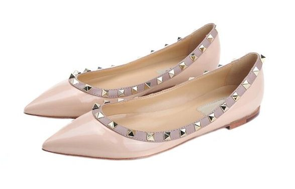 Valentino Rockstud flats look for less