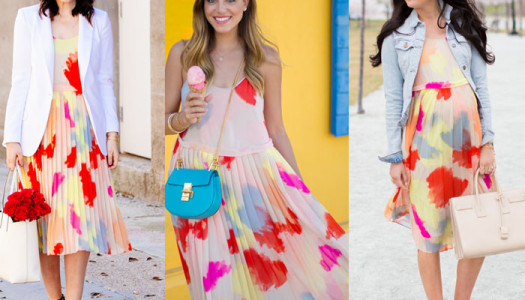 three ways to wear: spring midi dress