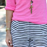 Outfit: Pairing Brights and Stripes