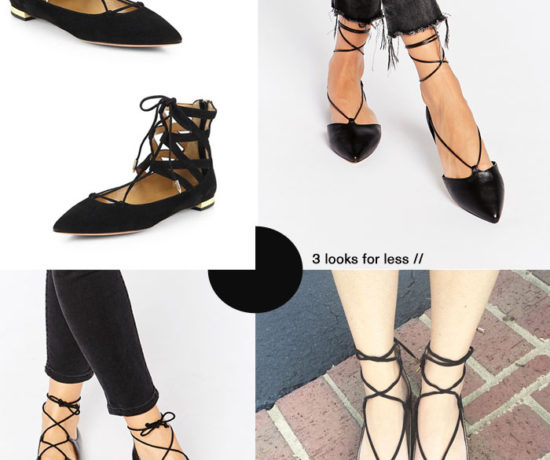 Look for Less: Aquazzura lace-up flats