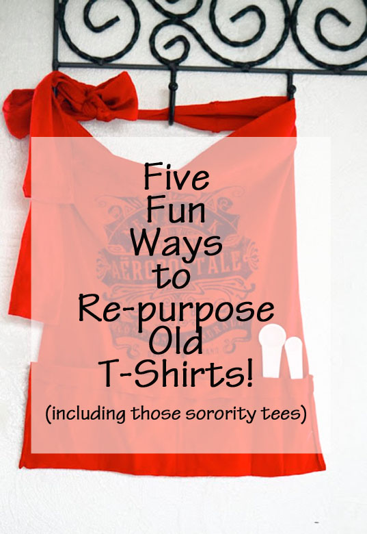 Fun, Cute Ways to Reuse Old Tees! // the average girl's guide