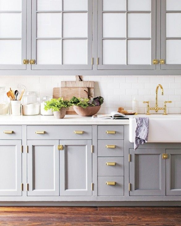 brass hardware in your kitchen -- trending now!