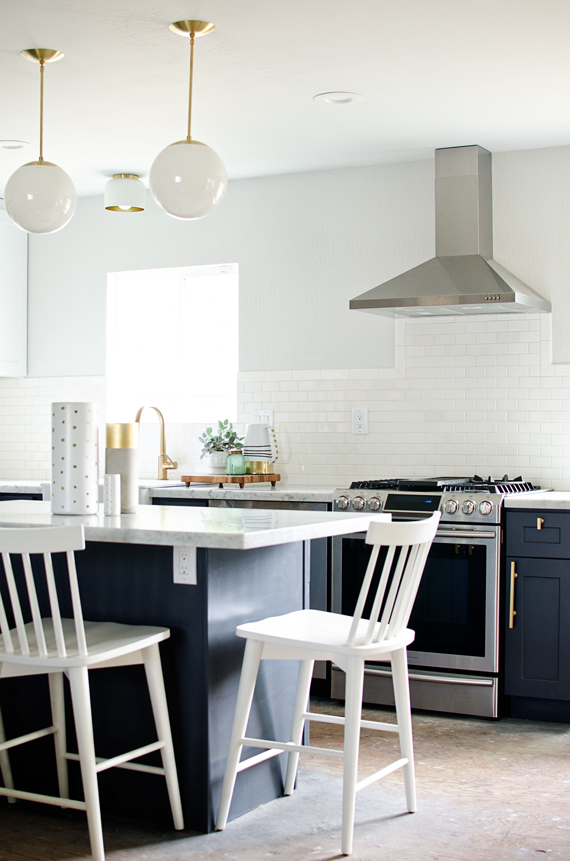 update your kitchen with gold hardware