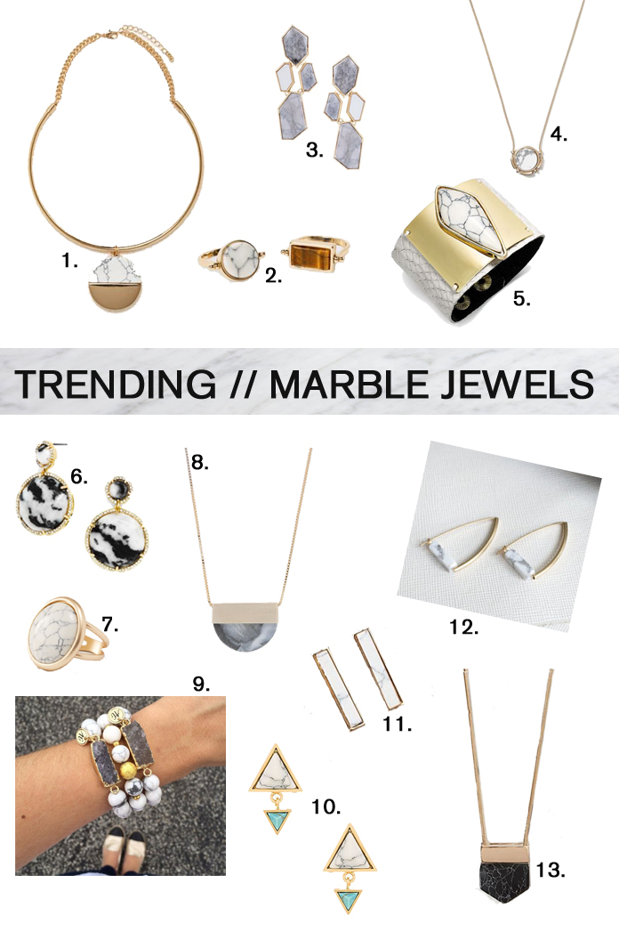 Marble Jewelry Trend (all affordable finds!)