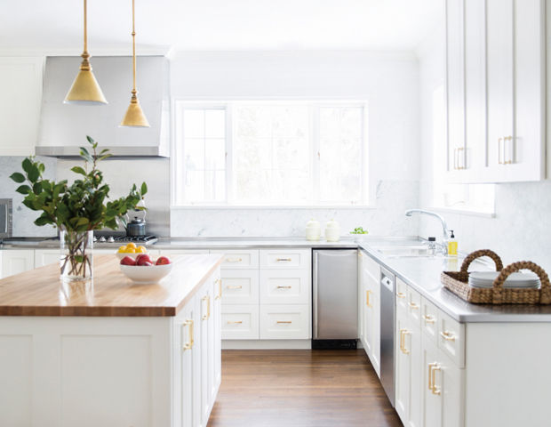 Wallpaper: Classic White Kitchen With Modern Design And Clean Floor; Modern Kitchen; October 2, 2018; photo - 1