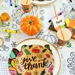How to Create a Fun Kid's Table for Thanksgiving