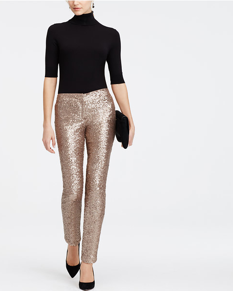 Ann taylor sequin pants