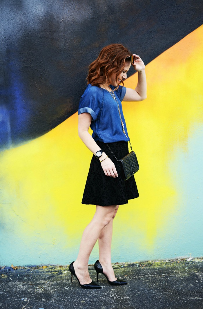 How to Style A Party Skirt Two Ways
