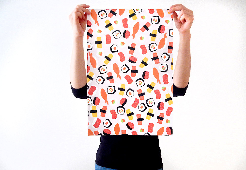 sushi wrapping paper