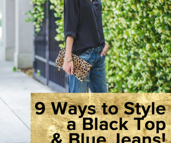 How to Style Black Top & Blue Jeans outfit by popular Florida style blogger The Modern Savvy