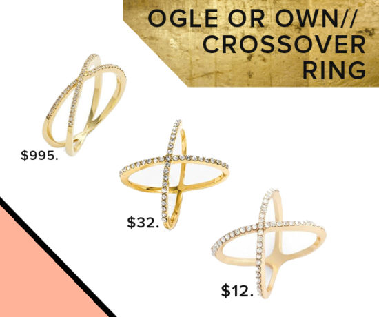 Get the crossover ring look for less