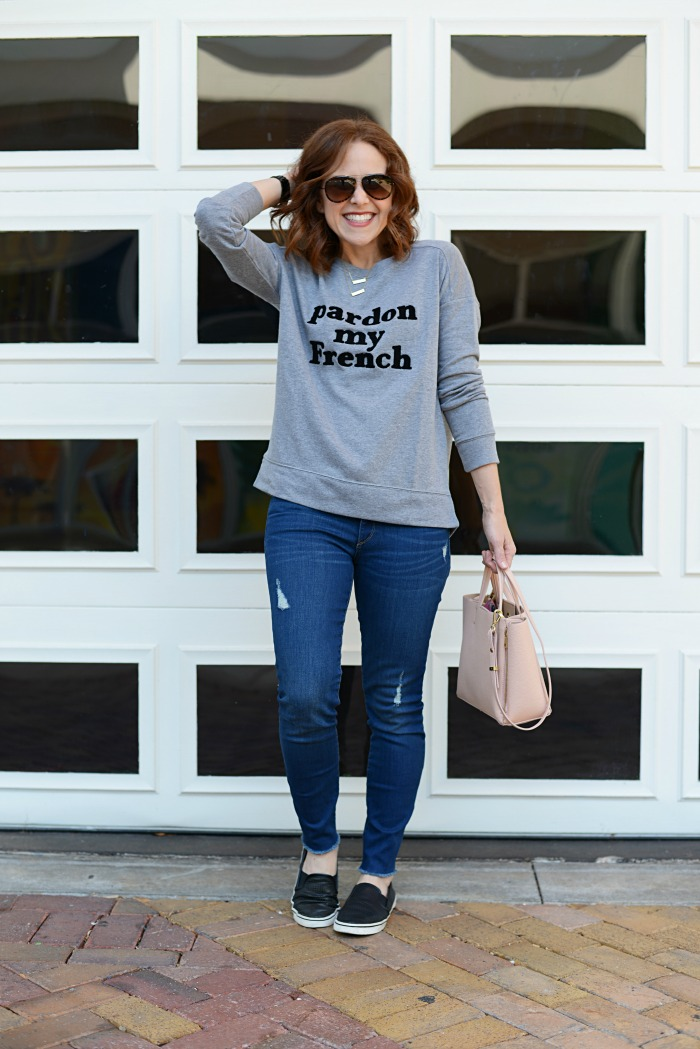 how to style a sweatshirt // the modern savvy