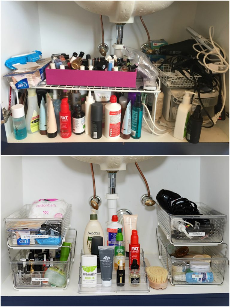 Best tips how to organize your bathroom cabinet -- check out this before and after! // the modern savvy