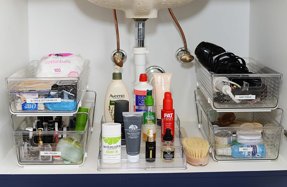 How To Organize Your Bathroom Cabinets The Modern Savvy