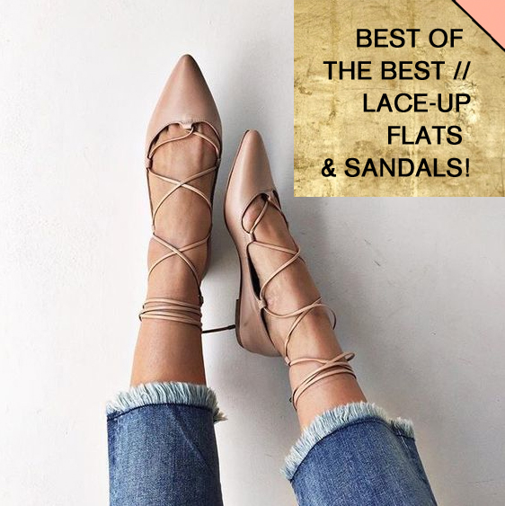 Best of the Best: lace up flats, sandals, heels, affordable finds