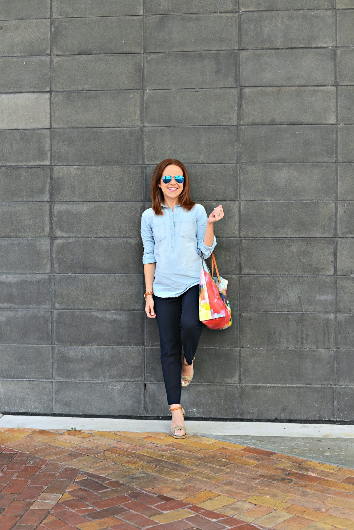 spring chambray // the average girl's guide