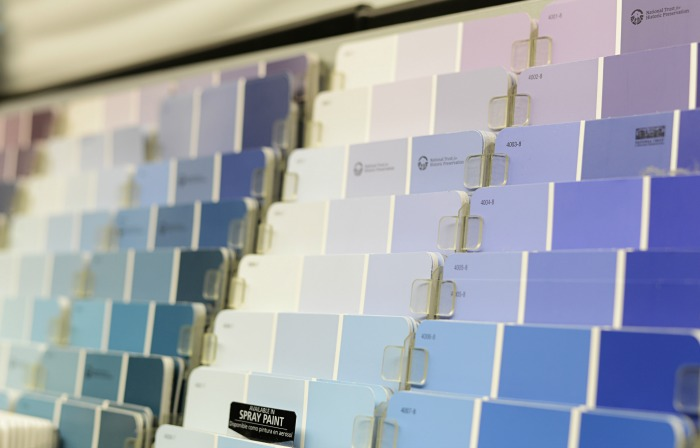 blue paints, paint swatches, Valspar Zero VOC paints