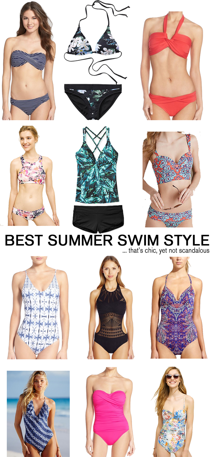 Best swim suits for summer that are chic (without being scandalous!)